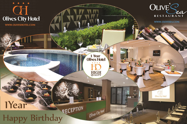 Четиризвездният Бизнес Оливс Сити Хотел в пълния си блясък на своя I-ви Рожден Ден
